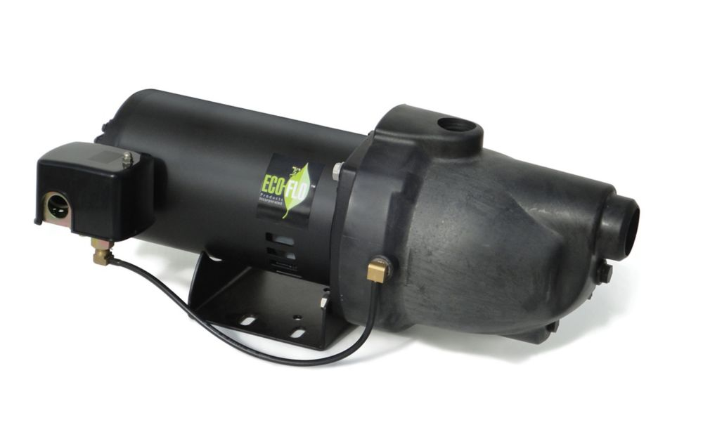 Shallow Well Jet Pump, 1/2HP, Thermoplastic