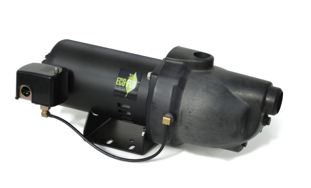 Shallow Well Jet Pump, 3/4HP, Thermoplastic
