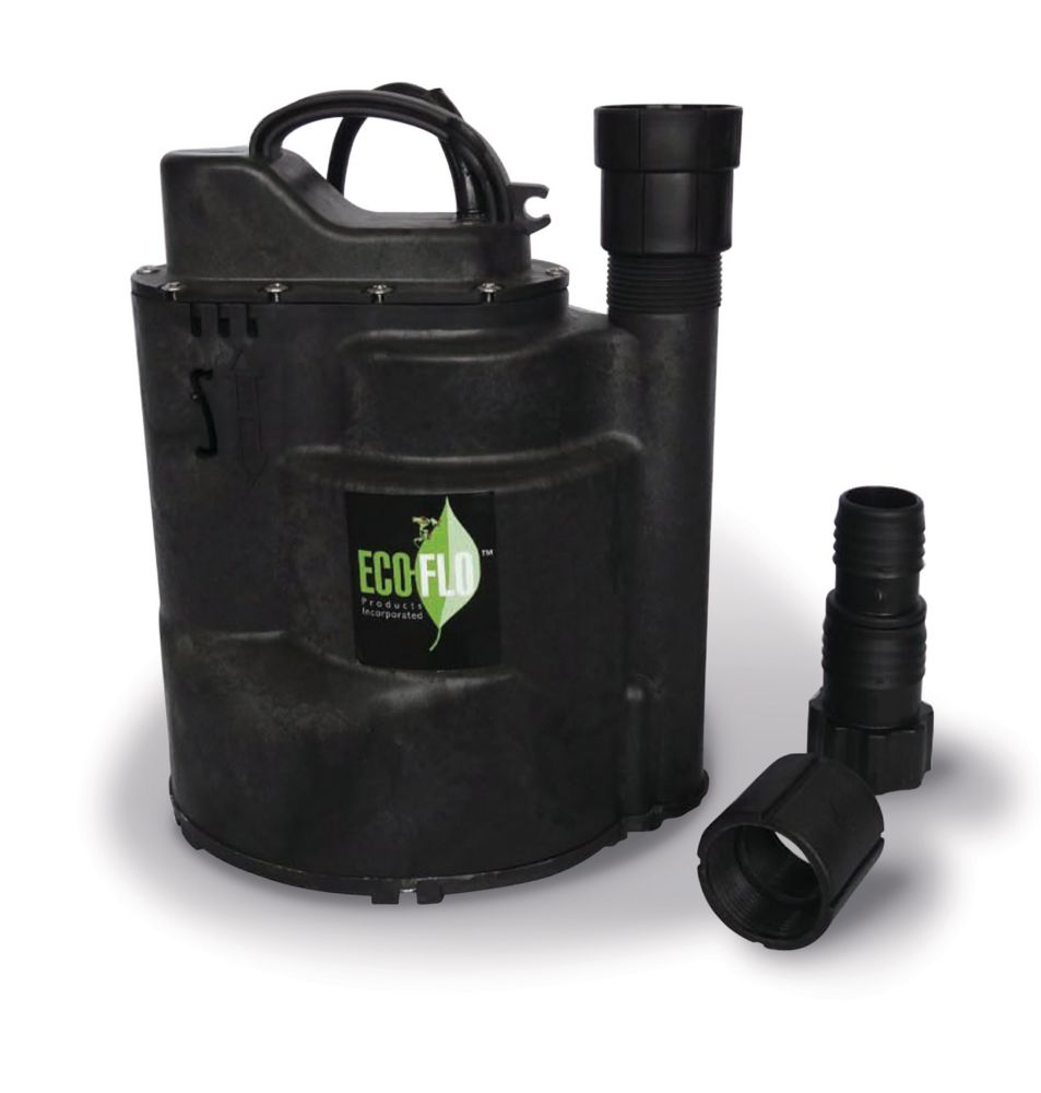Submersible Utility Pump, 1/3HP, Auto On/Off