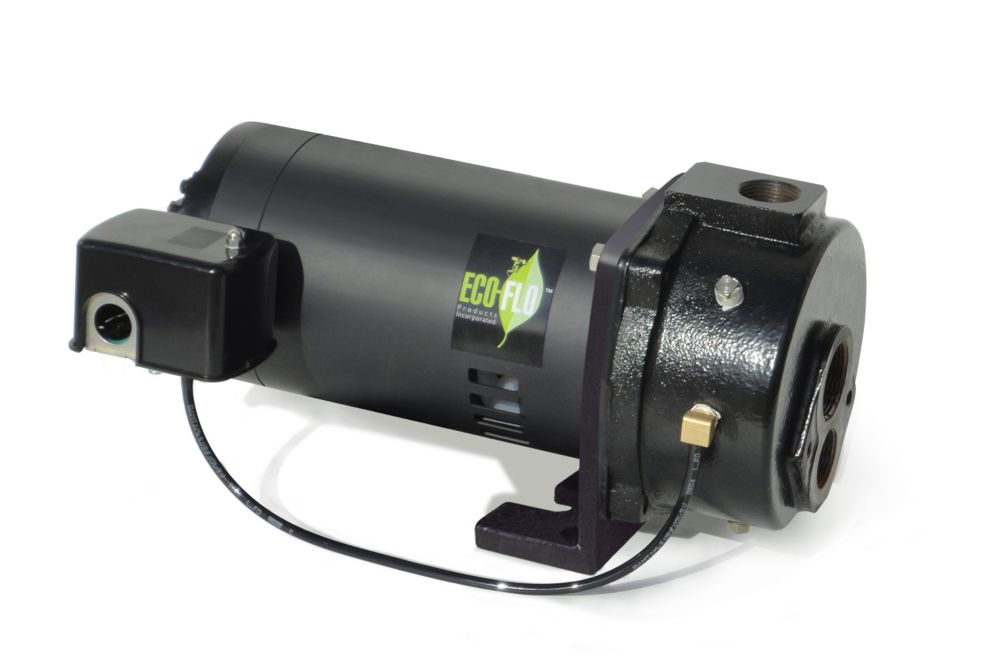 Convertible Well Jet Pump, 1/2HP, CI, w/ejector
