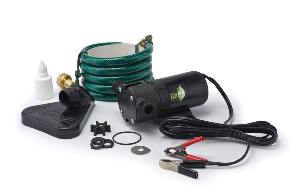 ECOFLO Portable Utility Pump, 350GPH, 12V DC