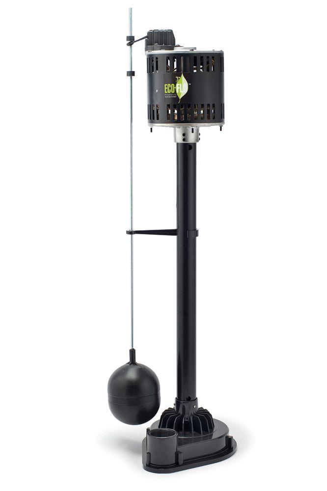 Pompe de puisard sur socle, 1/3HP, thermoplastique