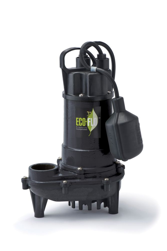 Sump Pump, Submersible, 1/3HP, CI, Tethered Sw