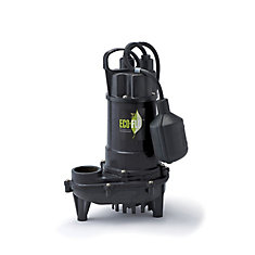 Pompe de puisard submersible, 1/3HP, fonte, interrupteur à flotteur attaché