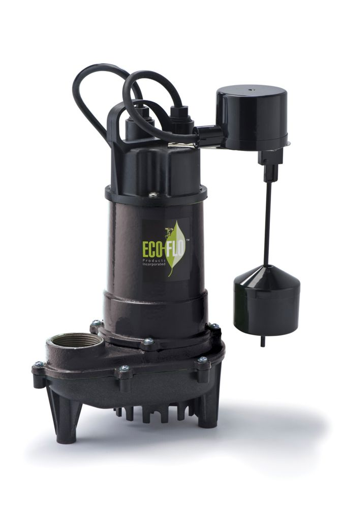 Sump Pump, Submersible, 1/3HP, CI, Vertical Sw