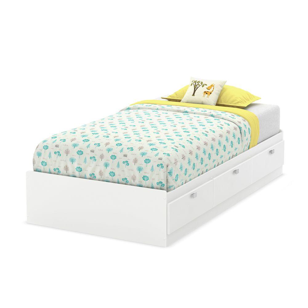 Karma Twin Mates Bed (39 Inch), Pure White