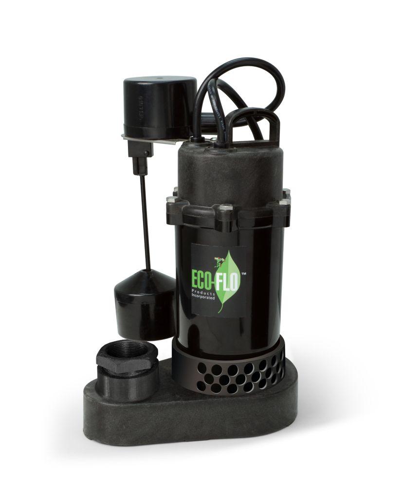 Sump Pump, Submersible, 1/3HP, PL, Vertical Sw