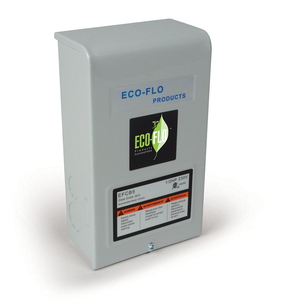 Control Box for 4-inch Sub Well Pump, 1/2HP, 3W