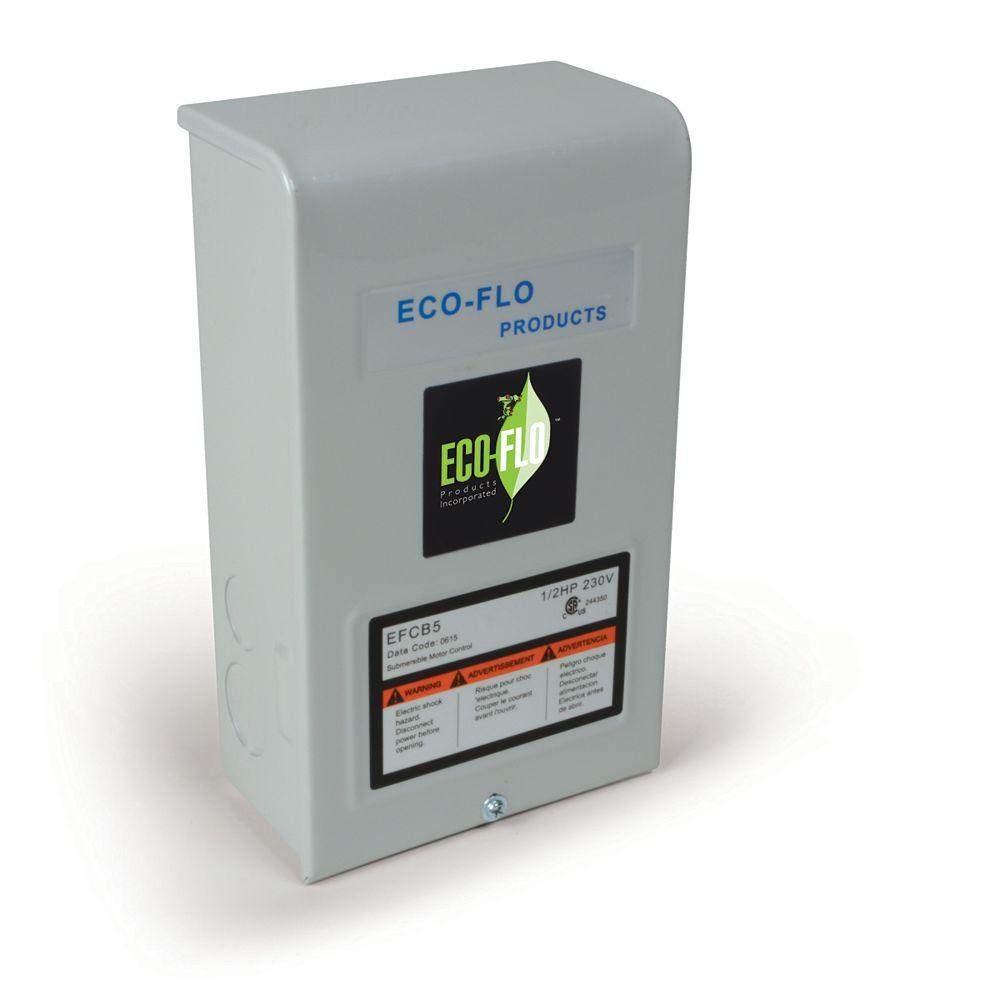 ECOFLO Control Box for 4-inch Sub Well Pump, 1/2HP, 3W