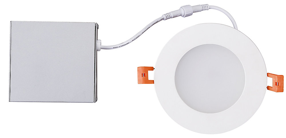 4-inch Integrated Soft White 3000K Dimmable LED Recessed Light Kit in White with Junction Box - ENERGY STAR®
