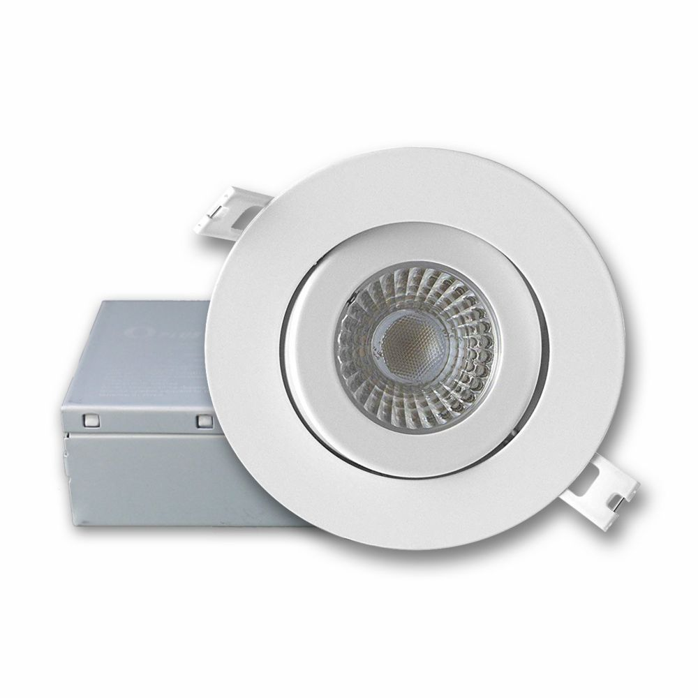 LED 6 Inch Slim Downlight kit with J Box - 13W 910lm Dimmable 3000K WH