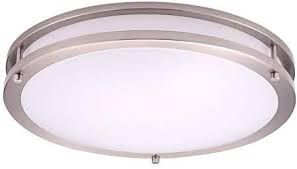 LED 16 Inch Flushmount Fixture BN 3000K 23W 1600LM Energy Star rated