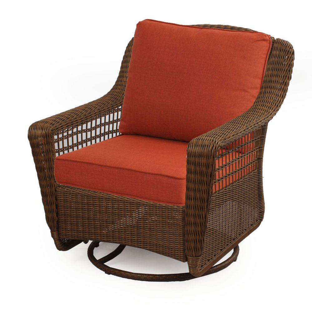 Hampton Bay Spring Haven All Weather Wicker Patio Swivel