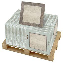 Marazzi Carreaux de sols et murs, 18 po x 18 po, porcelaine, Montagna Rustic Stone, 352 pi2/palette
