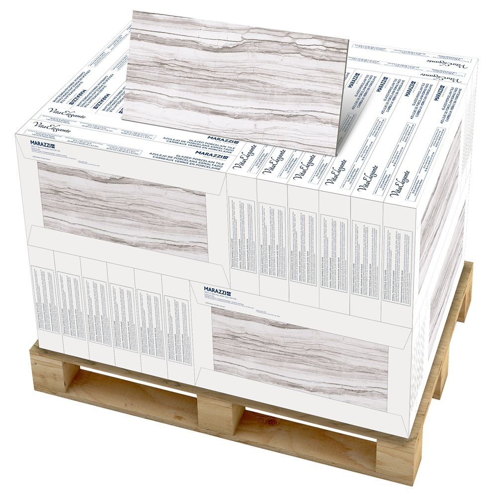 VitaElegante Grigio 12 inch x 24 inch Porcelain Floor and Wall Tile (374.4 Sq. Feet / Pallet)