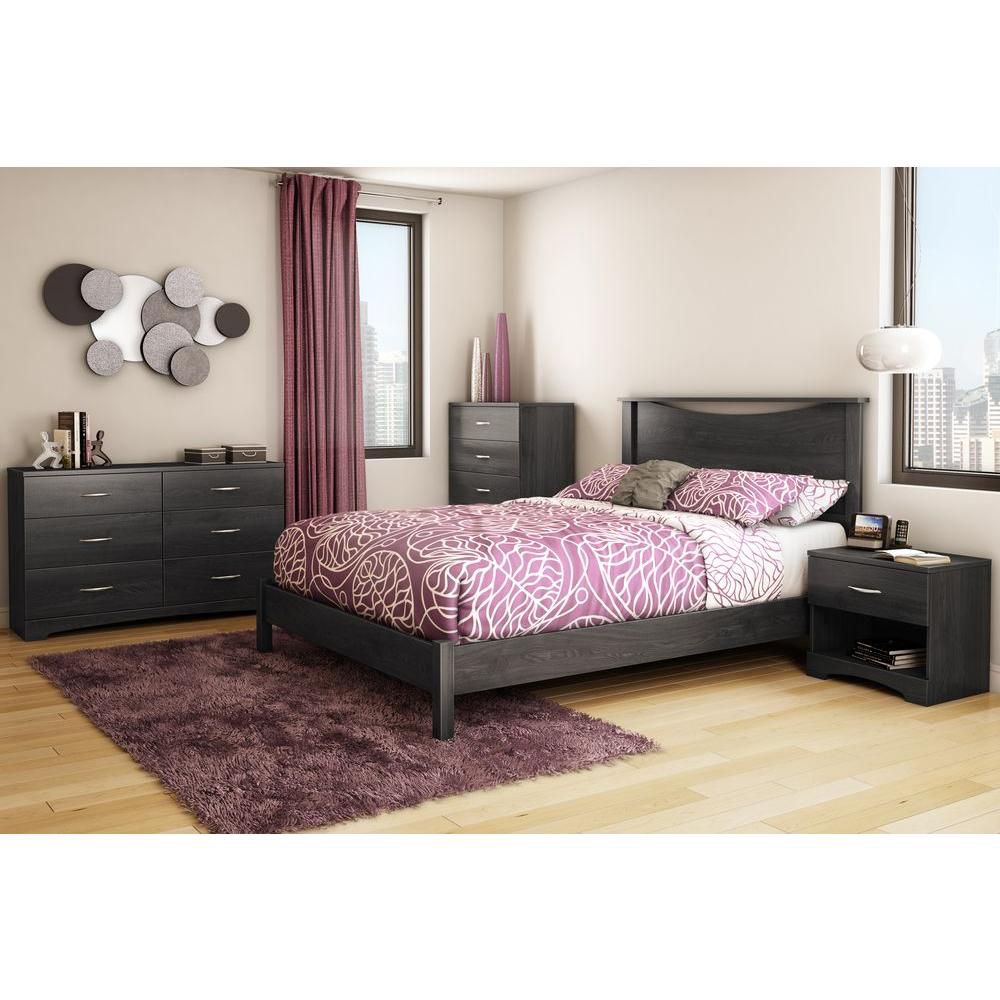 Step One Queen Platform Bed (60 Inch), Gray Oak