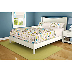 Step One Queen Platform Bed (60 Inch), Pure White