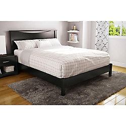 Step One Queen Platform Bed (60 Inch), Pure Black