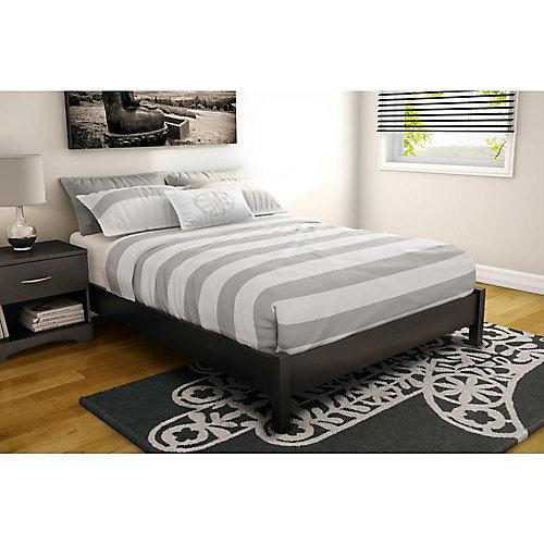 Step One Full Platform Bed (54 Inch), Pure Black