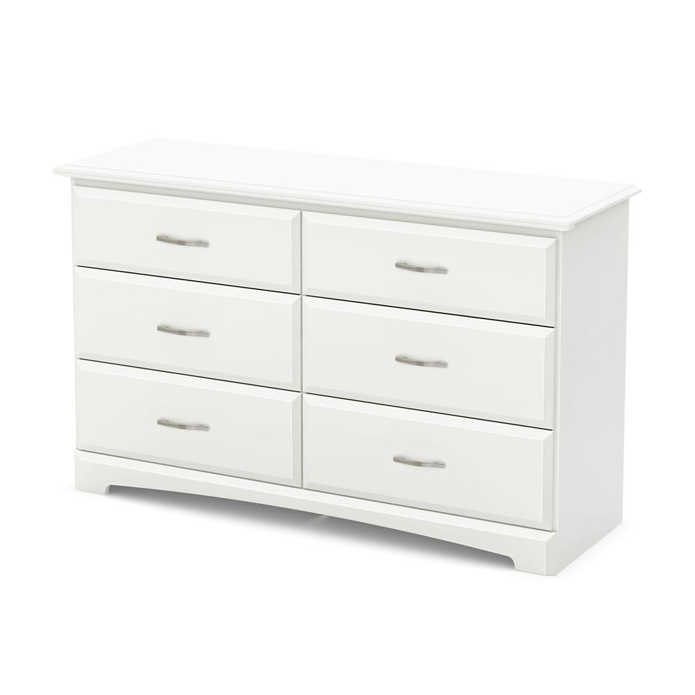 Callesto 6-Drawer Double Dresser, Pure White
