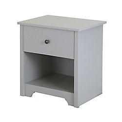 Vito 1-Drawer Nightstand, Soft Gray