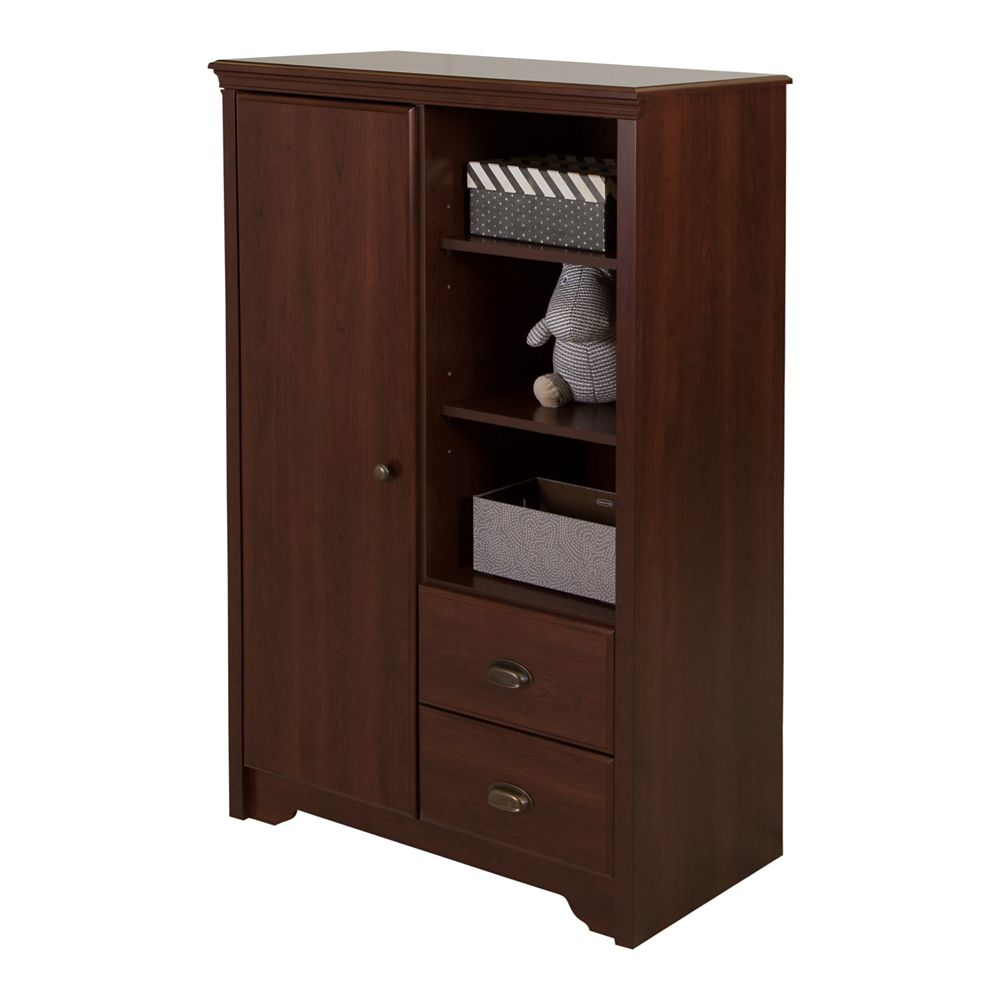 Fundy Tide Armoire with Drawers, Royal Cherry