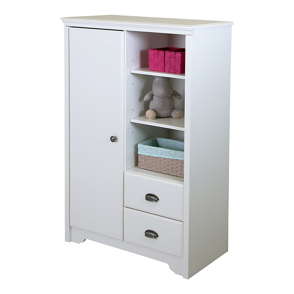Fundy Tide Armoire with Drawers, Pure White