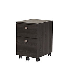 Interface 15.75-inch x 20.5-inch x 18.25-inch 3-Drawer Manufactured Wood Filing Cabinet in Grey