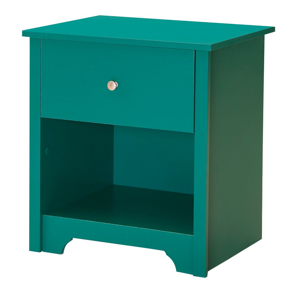 Vito 1-Drawer Night Stand, Turquoise