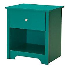 Table de chevet 1 tiroir, Turquoise, collection Vito