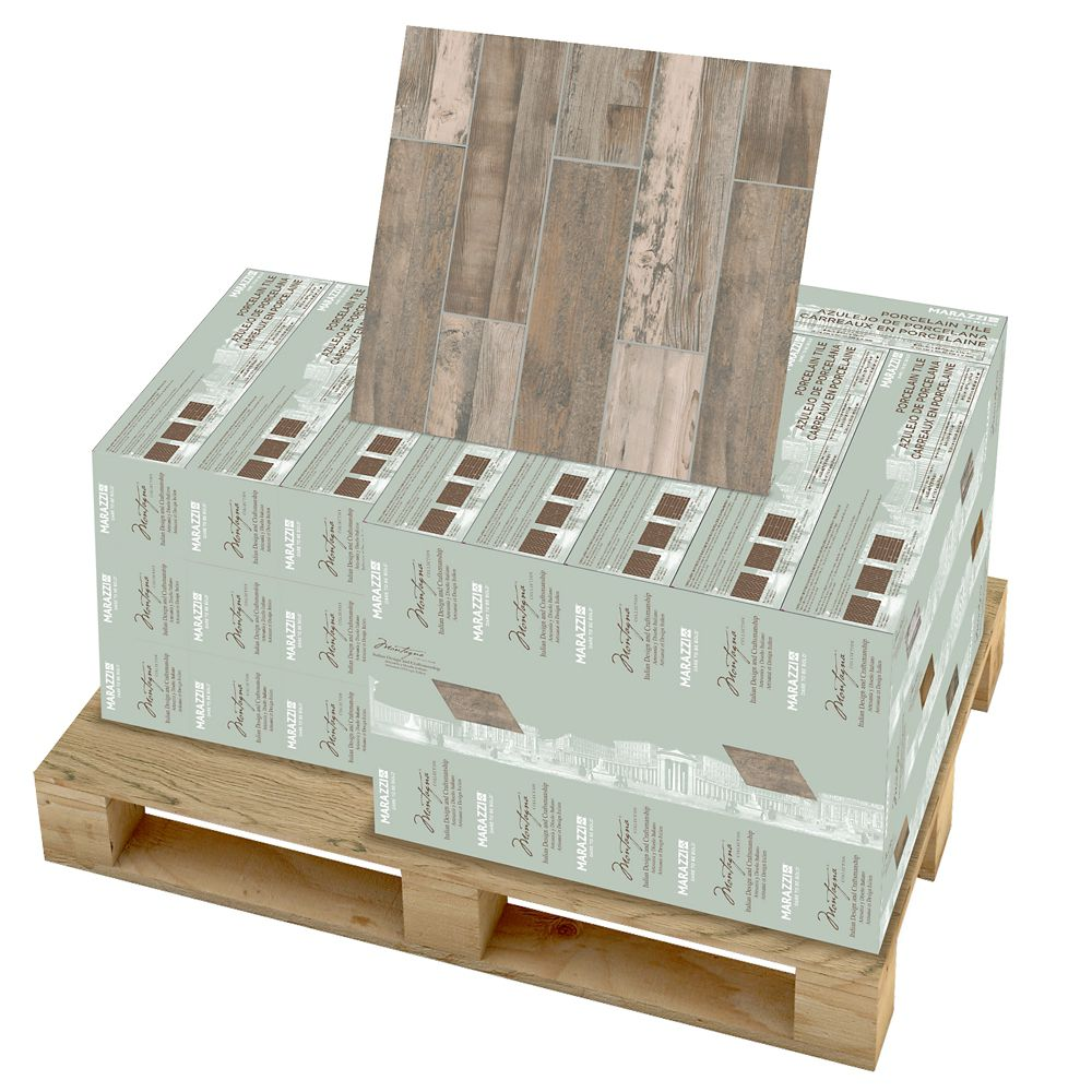 Montagna Weathered Gray 6 Inch x 24 Inch Porcelain Floor and Wall Tile (392.31 Sq.  Feet  / Palle...