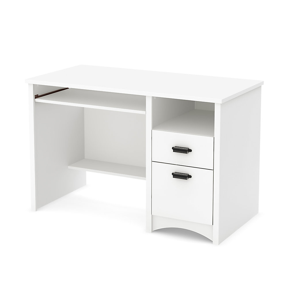 Bureau de travail standard Gascony, 47,5po x 30,75po x 23,5po, blanc