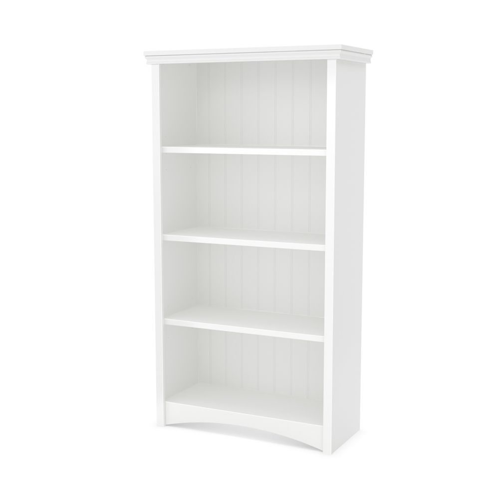 Étagère 4 tablettes, Blanc solide, collection Gascony