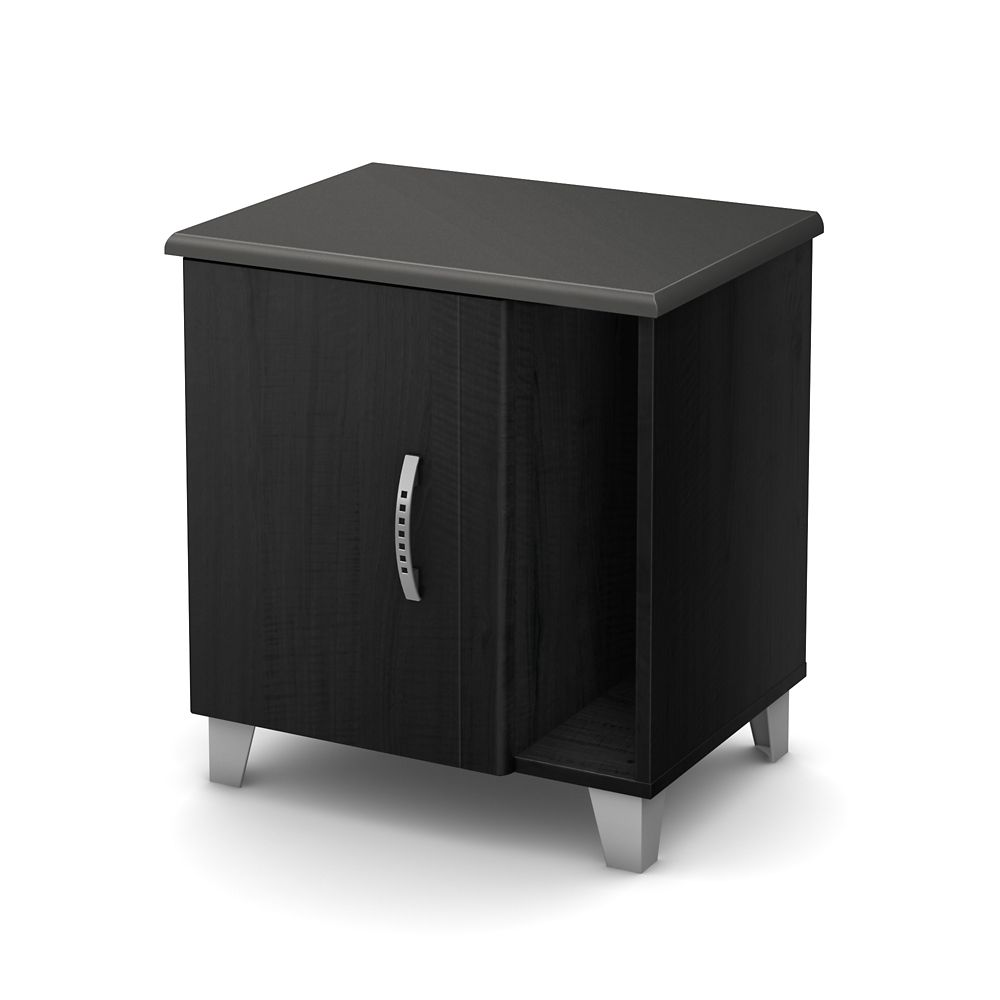 South Shore Lazer Night Stand, Black Onyx