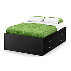 Lazer Full Captain Bed (54 Inch), Black Onyx