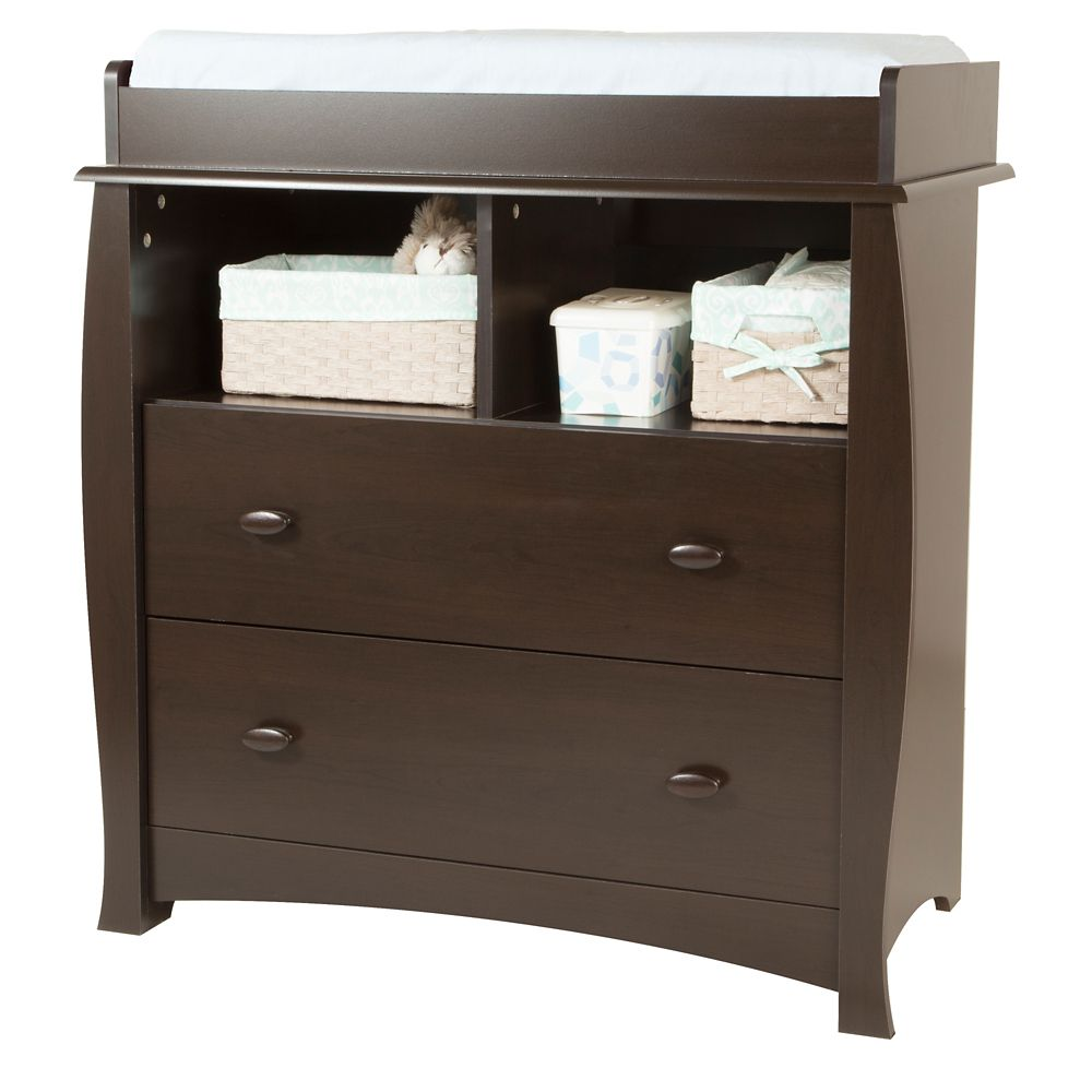 Beehive Changing Table with Removable Changing Station, Espresso
