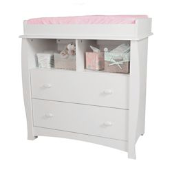South Shore Beehive Changing Table with Removable Changing Station, Pure White