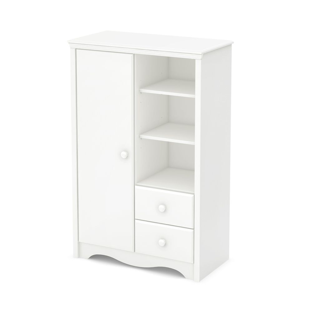 Heavenly Armoire with Drawers, Pure White