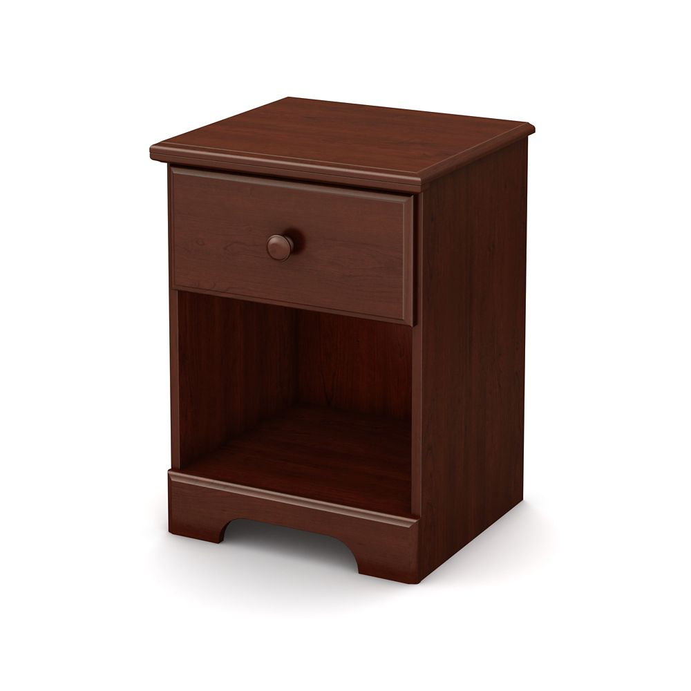 Summer Breeze 1-Drawer Night Stand, Royal Cherry