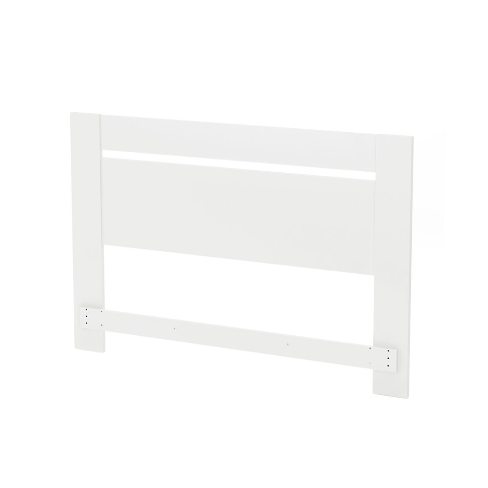 Tête de lit double/queen (54/60''), Blanc solide, collection Reevo