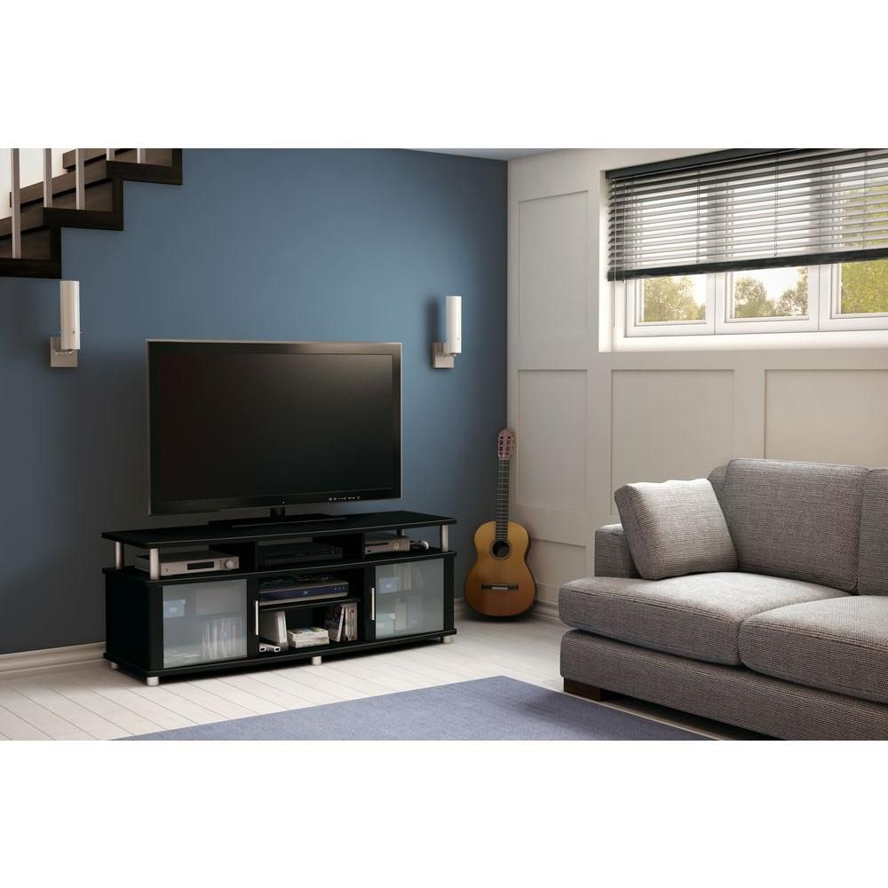 City Life TV Stand  , Pure Black