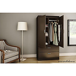 South Shore Armoire penderie, Chocolat, collection Acapella