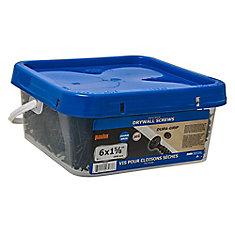 #6 x 1-5/8 po à tête plate Phillips Drive à filetage grossier Vis pour cloison sèche - 2500pcs