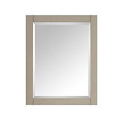 Avanity 24-inch W x 30-inch H Single Framed Wall Mirror in Taupe Glaze