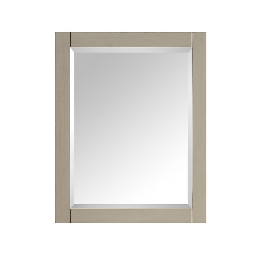 Avanity 24-inch W x 30-inch H Single Framed Wall Mirror in Taupe Glaze