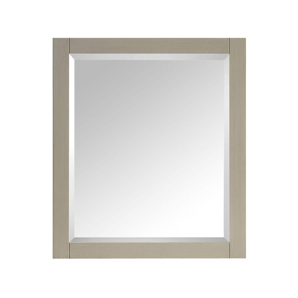 Miroir Avanity de 28po au fini taupe satiné pour collection Delano