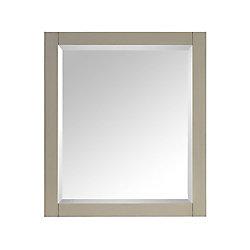 Avanity 28-inch W x 32-inch H Single Framed Wall Mirror in Taupe Glaze
