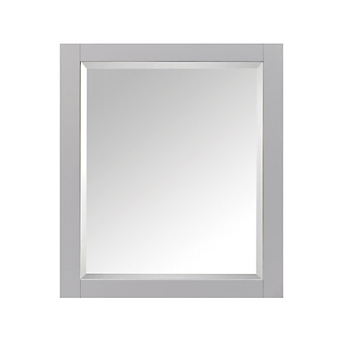 28 Inch Mirror Cabinet For Brooks / Modero / Tribeca In Chilled Gray Finish