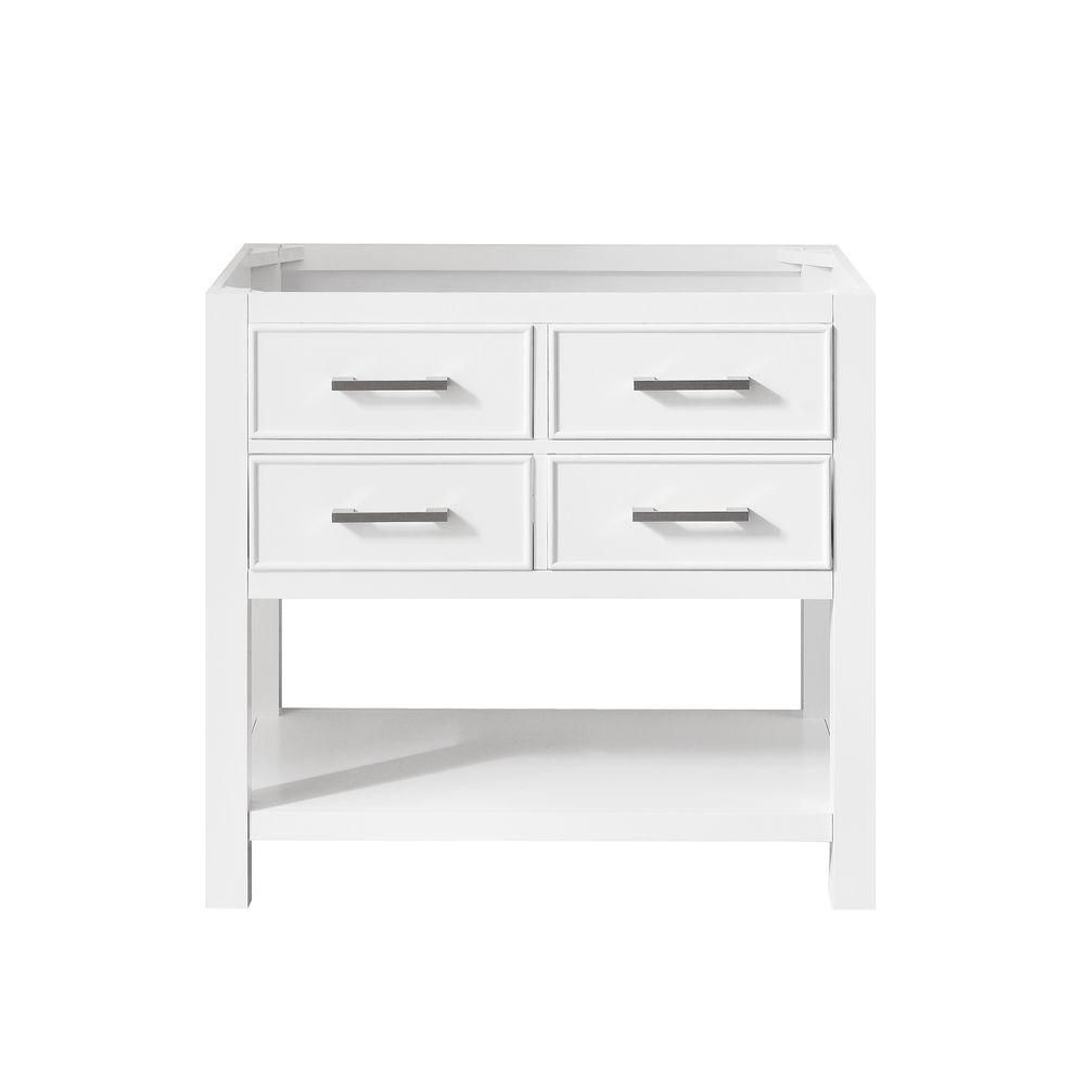 Brooks 36-Inch  Vanity Cabinet in White Finish