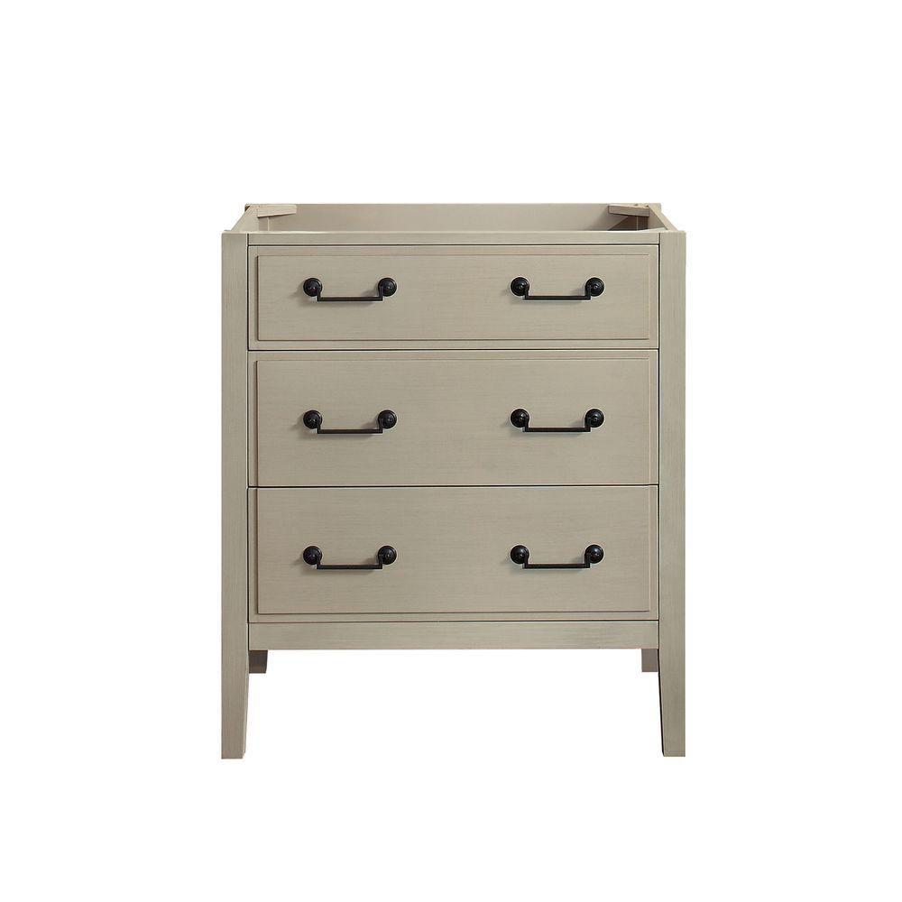 Delano 30-Inch  Vanity Cabinet in Taupe Glaze
